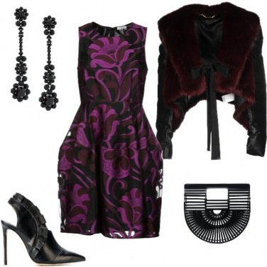 Outfit Halloween Fur and Flower