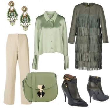 Outfit Frange in verde