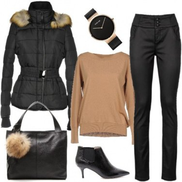 Outfit Minimal B&B (Beige and Black)