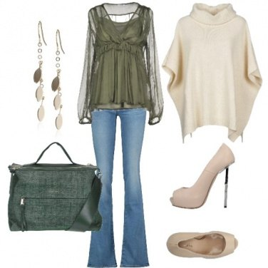 Outfit Chic col poncho