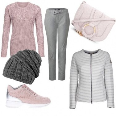 Outfit Pink winter