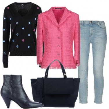 Outfit Pois e tweed
