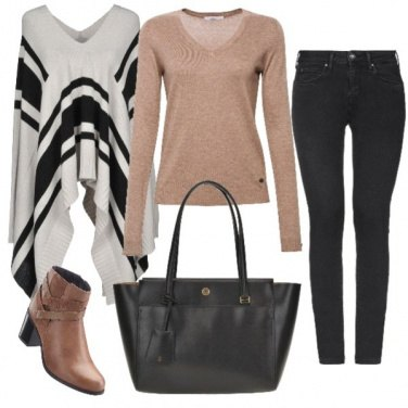 Outfit Poncho chic