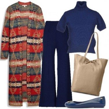 Outfit Colori su base blu