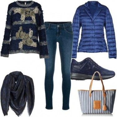 Outfit Comoda in jeans e maglione
