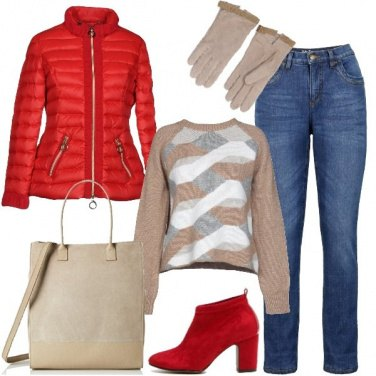 Outfit Basic in rosso