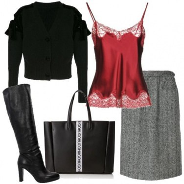 Outfit Il top rosso