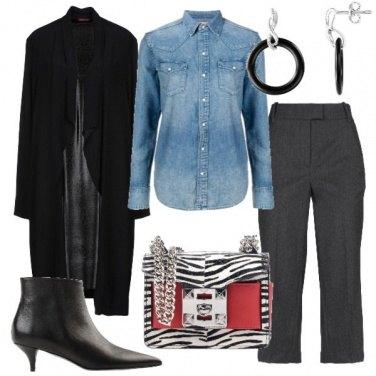 Outfit La borsa zebrata