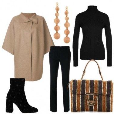 Outfit In nero e beige