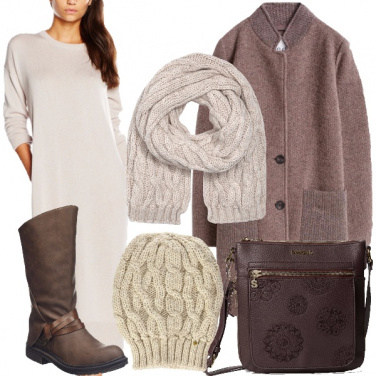 Outfit Inverno in avorio