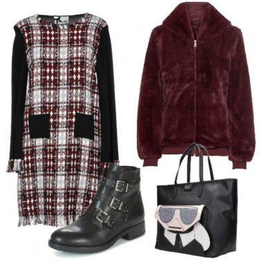 Outfit Bomber ecopelliccia