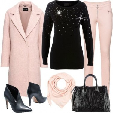 Outfit Pink black