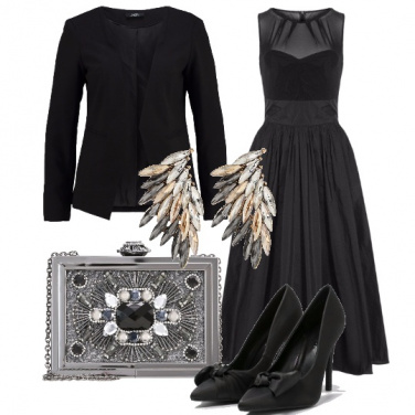 Outfit Total black luminoso