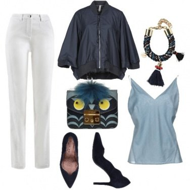 Outfit Withe&Deepblue