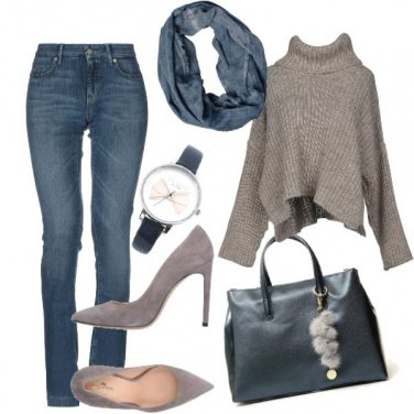 Outfit In jeans , per lavoro