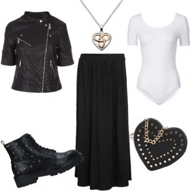 Outfit Maxi gonna dark