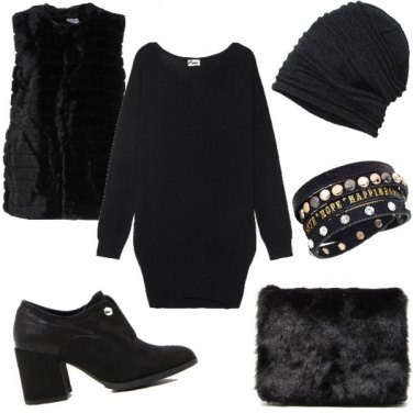 Outfit Total black woman