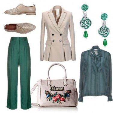 Outfit Doppiopetto e rose