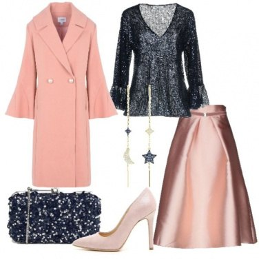 Outfit Chic in rosa e blu