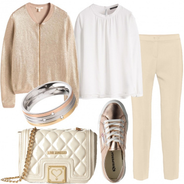 Outfit Oro casual