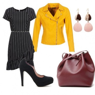 Outfit Giacca gialla