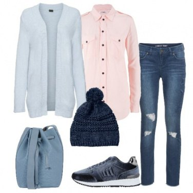 Outfit Pastelli e jeans