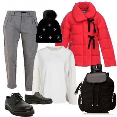 Outfit Giubbotto rosso