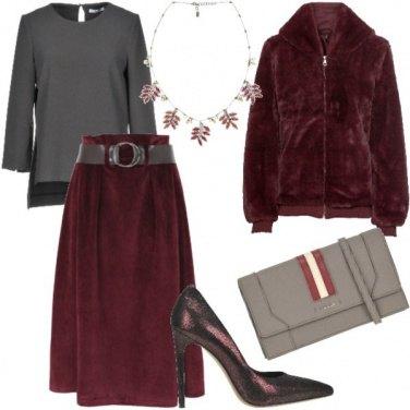 Outfit Bagliori bordeaux