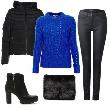 Outfit Il pullover blu