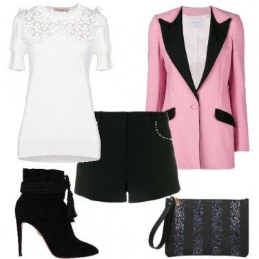 Outfit Particolare con la giacca bicolore
