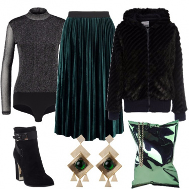 Outfit Verde metallica