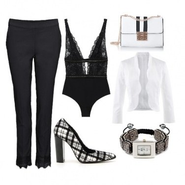 Outfit Romantic black and modern white