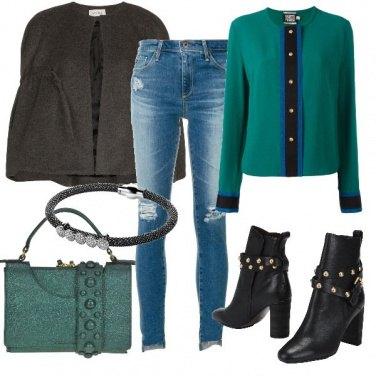 Outfit Verde metallizzato