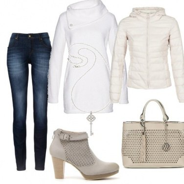 Outfit Bianco & jeans