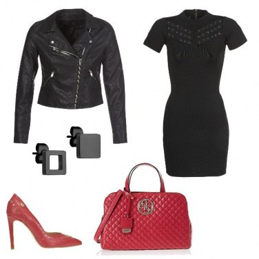 Outfit Red leather