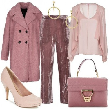 Outfit Rosa vellutato