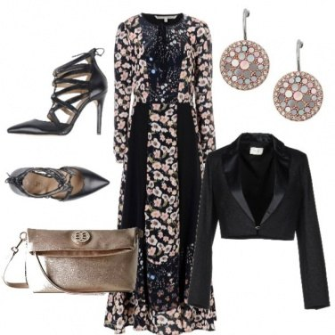 Outfit Fiori rosa, fiori di pesco