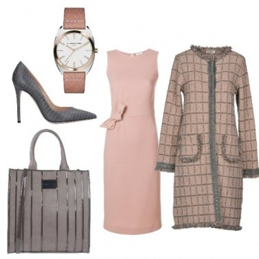 Outfit Rose and grey
