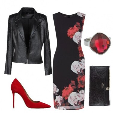 Outfit Red & White roses