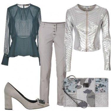 Outfit Il giubbotto silver