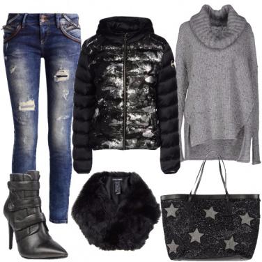 Outfit Dettagli con glitter e paillettes