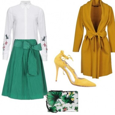 Outfit Gonna lunga verde