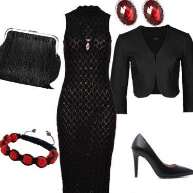 Outfit Eleganza low-cost rosso e nero