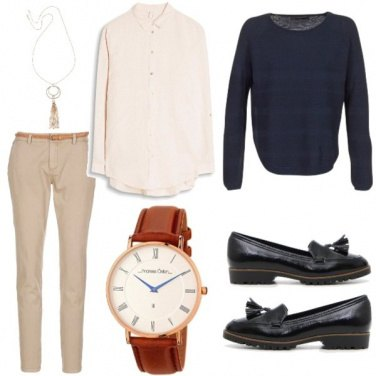 Outfit Blue & Brown