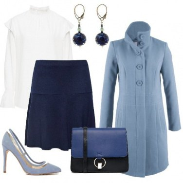 Outfit Light and dark blue