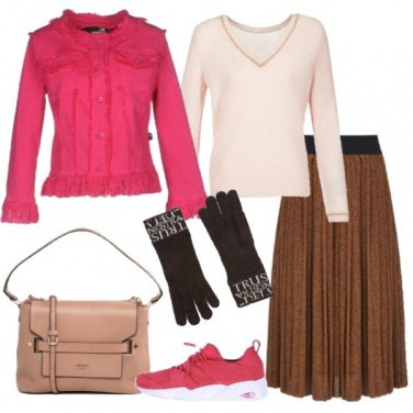 Outfit Giubbotto in jeans con frange