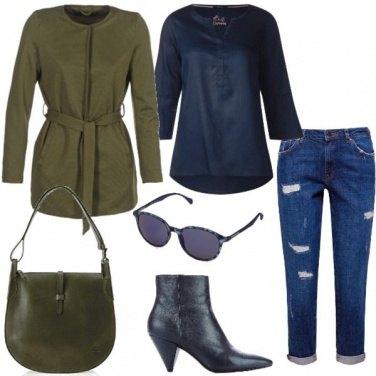 Outfit Il jeans con risvolto
