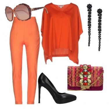 Outfit Arancio anche alla cerimonia