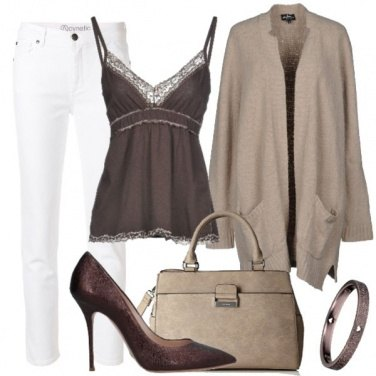 Outfit Il top sotto il cardigan