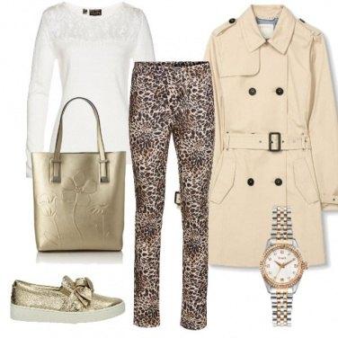 Outfit Gold leopardo